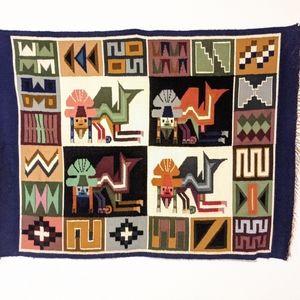 Wool tapestry handmade peruvian